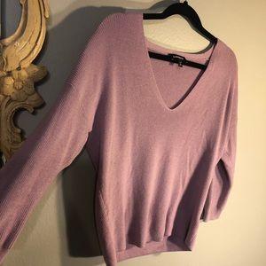 Express 3/4 Sleeve, Deep V- Neck Sweater. Super